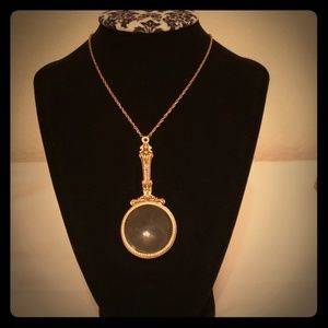Real magnifying glass necklace Vintage inspired!